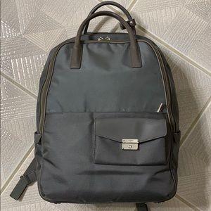 Tumi gray double handle durable nylon backpack